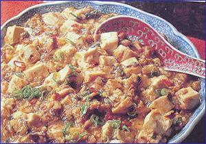 鯖の麻婆豆腐